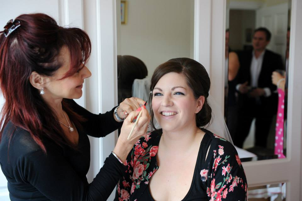 Cheshire bridal makeup artist Suzanne Showman at work